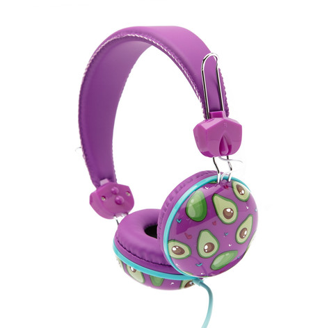 Retro headphones avocado