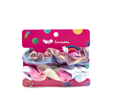 Rainbow scrunchies