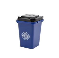 Trash can pen holder blue