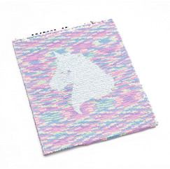 Unicorn A4 Sequin notepad