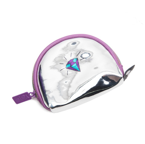 Coin wallet holographic star diamond