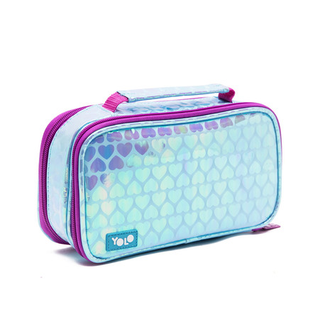 Suitcase holographic hearts