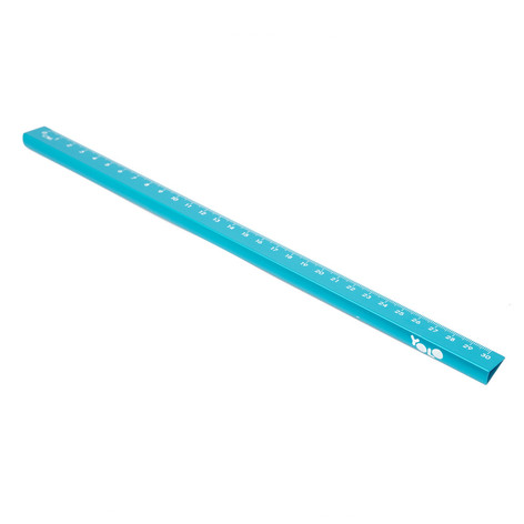 15/30 cm metallic ruler light blue