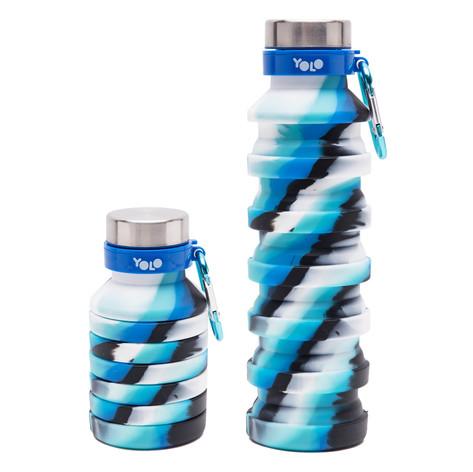 Silicon blue diagnoal bottle