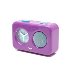 My voice recording clock purple