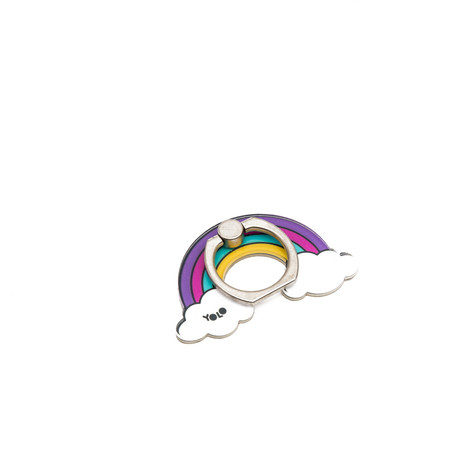 Phone holder ring rainbow