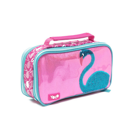 Suitcase flamingo