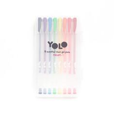 8 neon/glitter gel pens