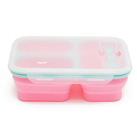 Silicon 3 cells box pastel pink