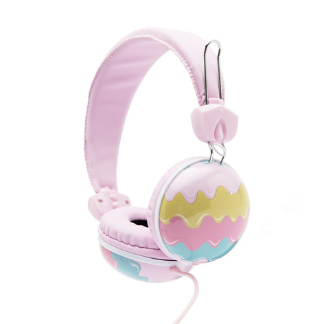 Retro headphones ice cream