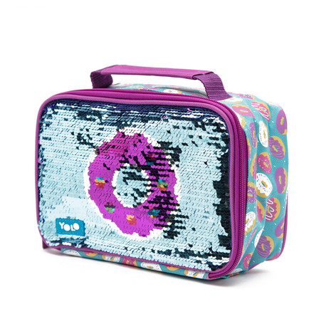 Rectangle donut sequin lunch bag