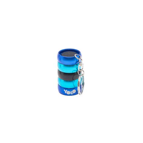 Mini flashlight key ring blue