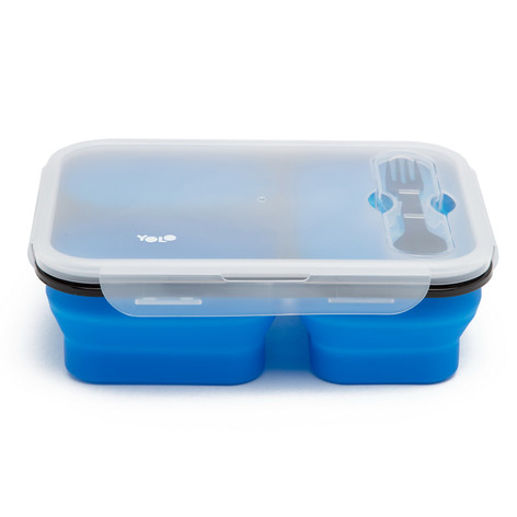 Silicon 3 cells box blue
