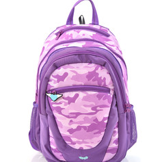 2 in 1 Camouflage backpack purple