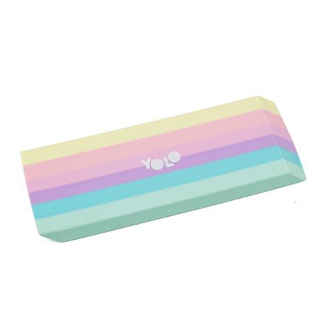 XL pastel rainbow eraser