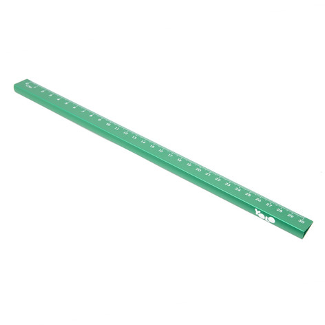 15/30 cm metallic ruler green