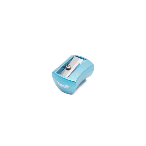 Metallic small sharpener blue