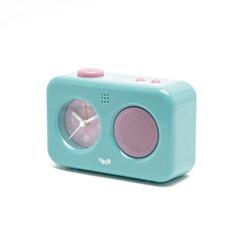 My voice recording clock light blue