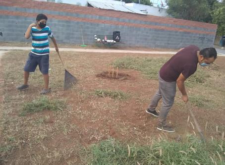 Participación Vecinal en  Brigadas de Limpieza en Plazas  y entradas de Circuitos de Fraccionamiento