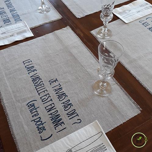 Set de table 6 pièces jute
