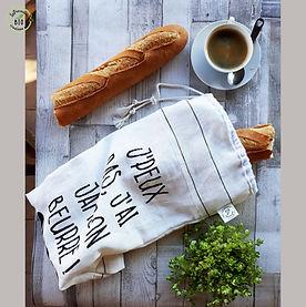 Les sacs à pain en tissus bio, doublés et respirants