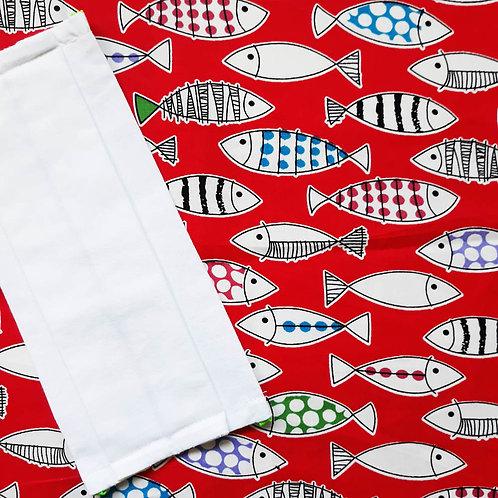 masque barrière modèle poissons graphiques