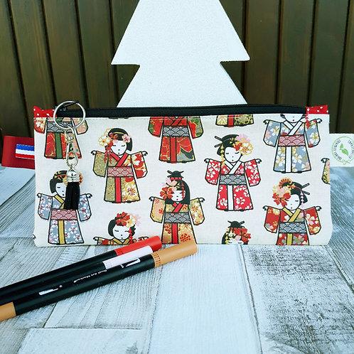 pochette imperméabilisée coton oeko-tex les petites geishas