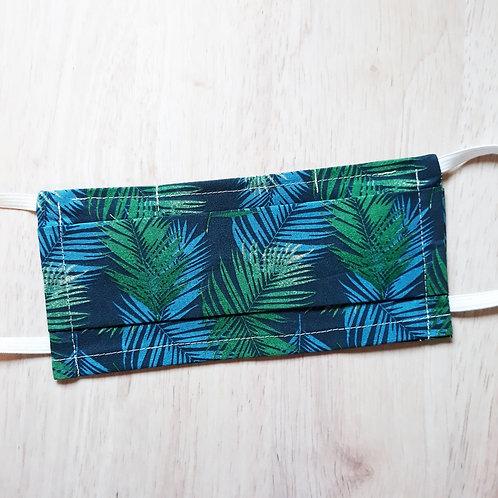 Masque tropical vert et bleu