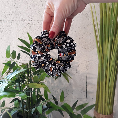 chouchou scrunchie coletero Poppy or et noir