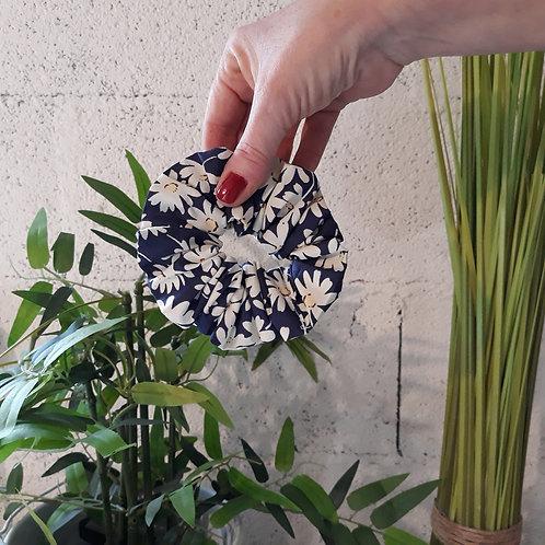chouchou scrunchie coletero jasmin bleu