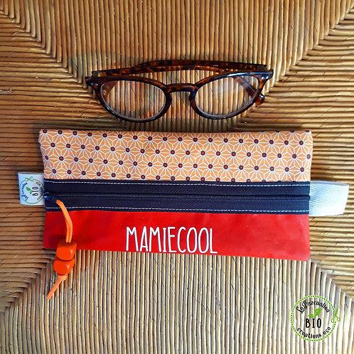 Etui à lunettes motif japonais