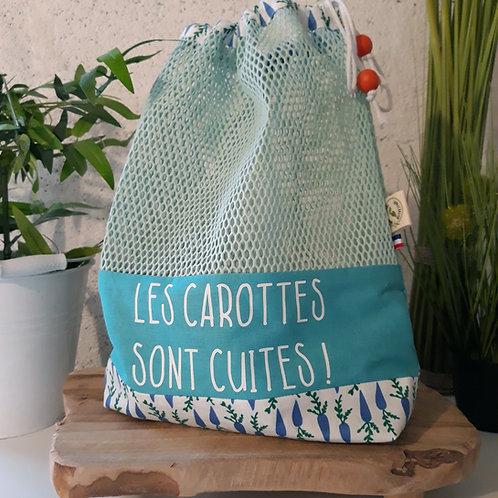 sac à vrac tissus zéro déchet écologie planète carottes