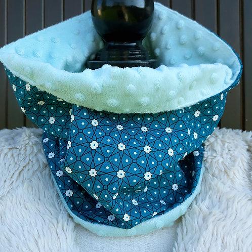 snood tour de cou écharpe maki turquoise