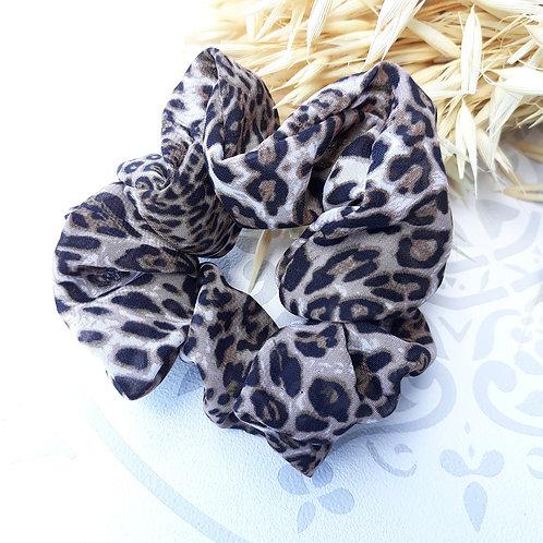 chouchou léopard mousseline vaporeux