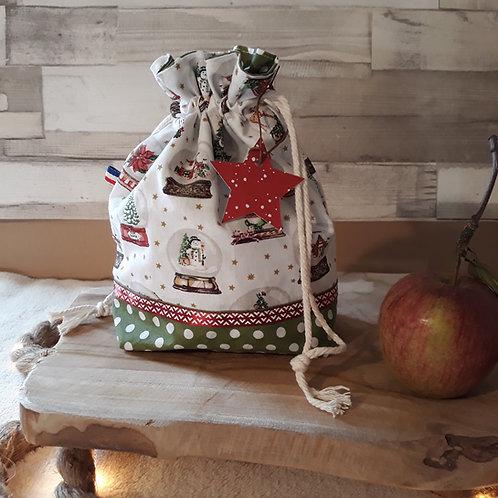 sac à cadeau boule à neige blanche