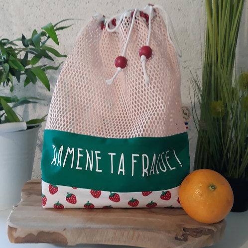 Sac à vrac zéro déchet écologique fraise