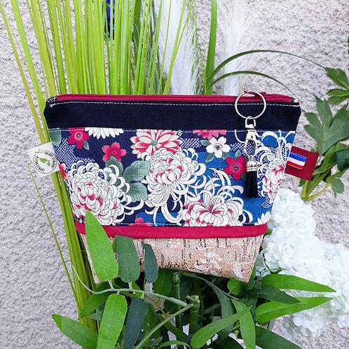 trousse tissus chrisanthème japonais
