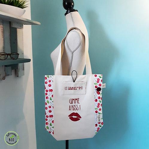 Tote bag gimme a kiss