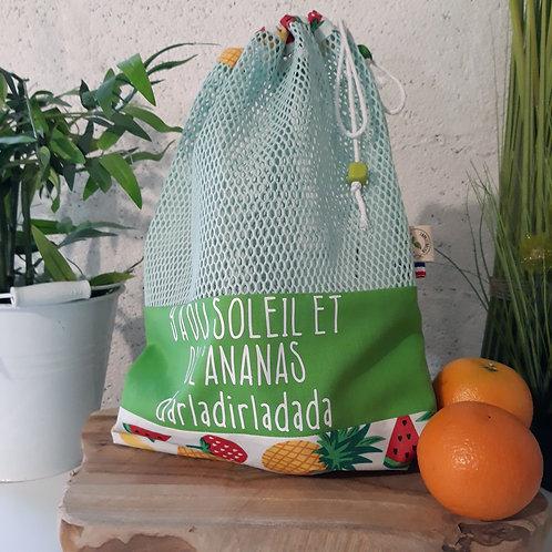 sac à vrac zéro déchet zéro waste ananas