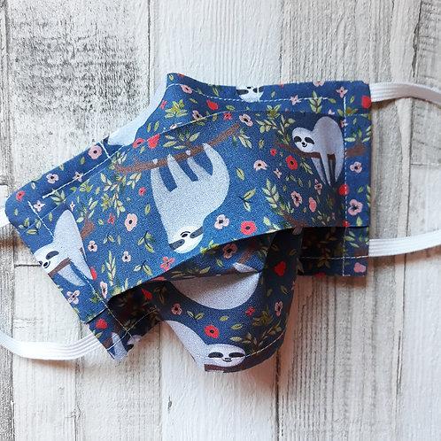 masque mascarilla face mask paresseux bleu