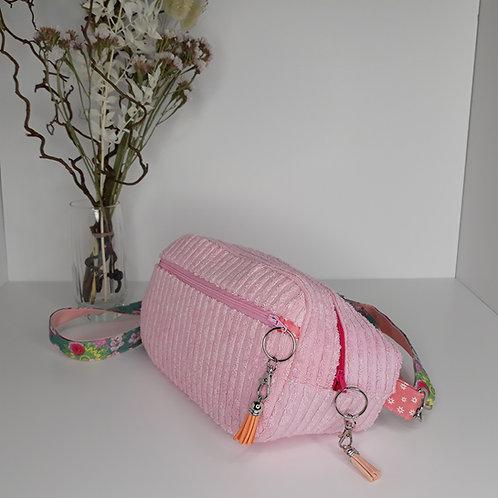 sac banane pour femme rose pastel