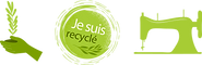 logos recyclé, logo main verte, logo machine à coudre