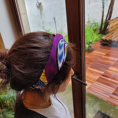 bandeau croisé pour cheveux tissus wax