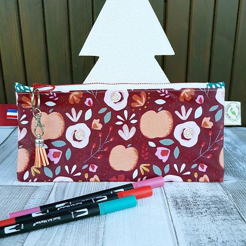 pochette imperméable tissus oeko-tex les pommes