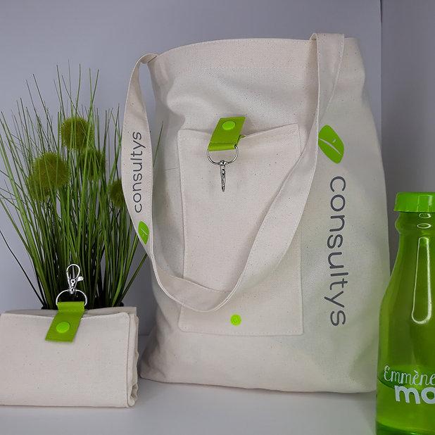 sac shopping pliable et personnalisable