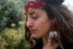 Tribal handmade tiara. Festival fashion accesories made with organic threads. The model is wearing ethical feather earrings. Available in many colors.