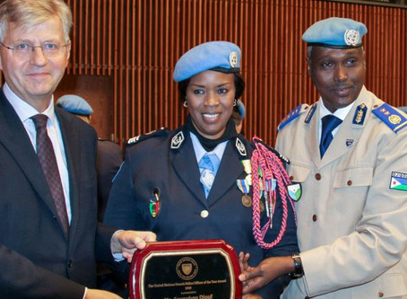 UN policewoman recognized for 'speaking up and speaking out' on behalf of the vulnerable