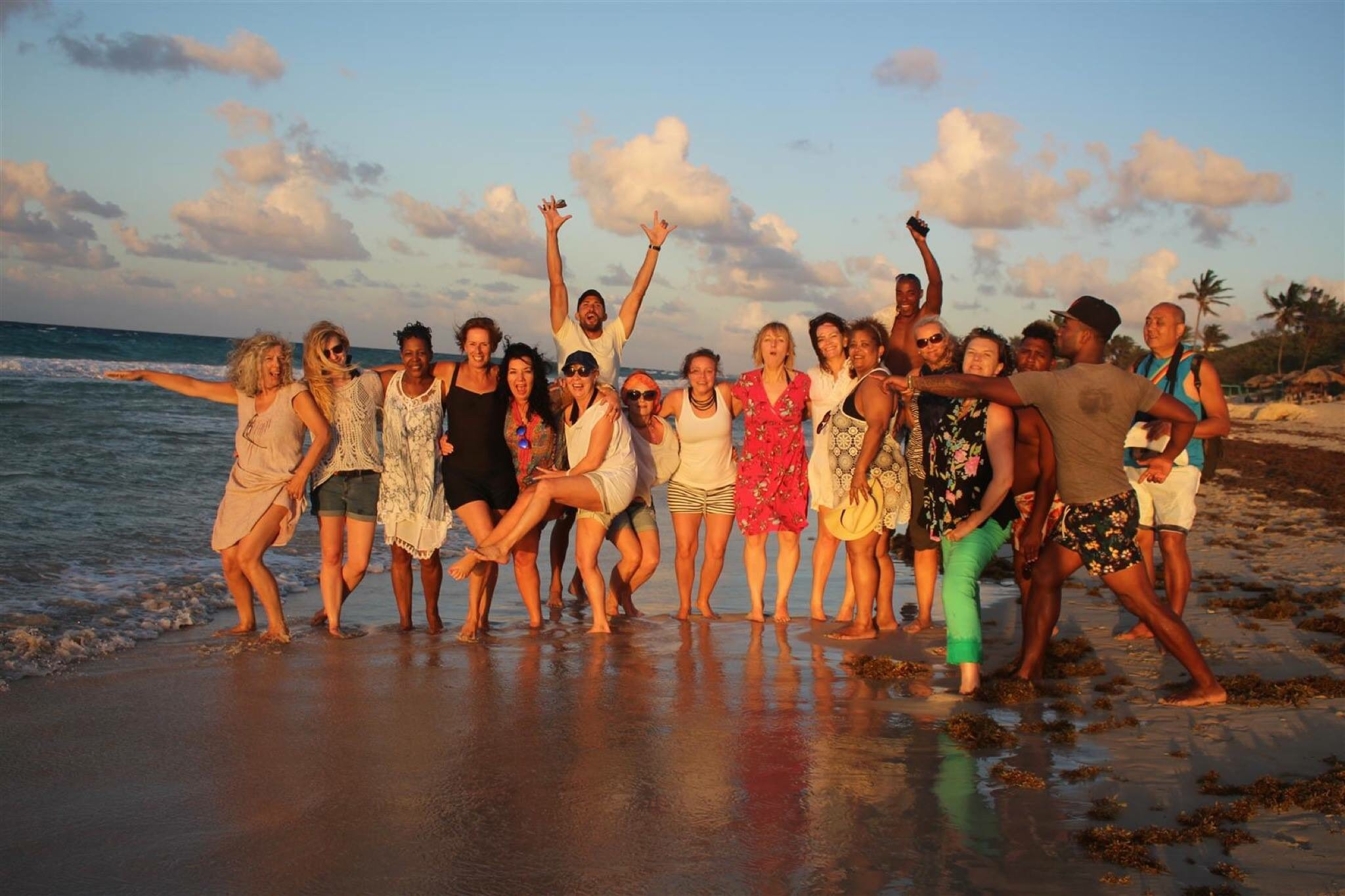 Cuba Havana Evening beach group