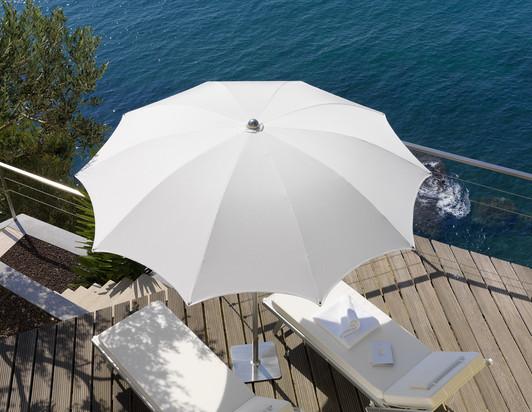 Parasol Rond - plage - piscine - Narcisse Crema ø 200cm - O Grands Bains