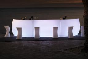 Comptoir Bar Vondom - Fiesta - Eclairage - LED BLANC BATTERIE - 3